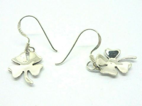 Sterling Silver 925 Lucky Four Leaf Clover drop Earrings